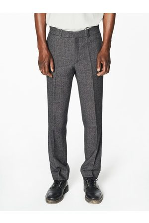 Capsul Men Formal Trousers - Pierre Flecked Grey Wool