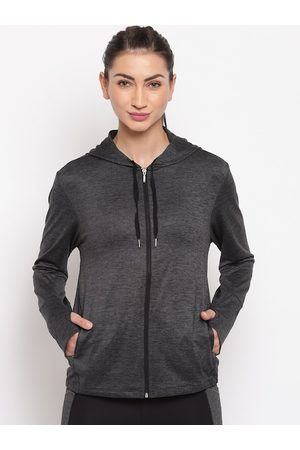 ENAMORA Women Black Solid Lightweight Sporty Jacket