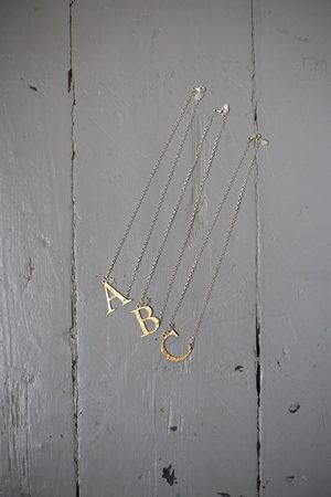 Chambers & Beau Women Necklaces - Gold & Alphabet Necklace