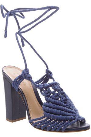 Schutz Women Sandals - High Heel Macrame Sandals