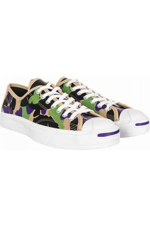 Converse Jack Purcell Leather Ox Trainers - Camo (Black/Candied Ginger