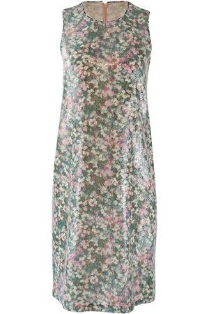 Max Mara Maxmara Studio Sleeveless Garden Print Sequin Dress with Matching Wrap