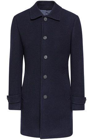 Hackett Washed Wool Twill Coat