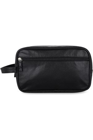 FabSeasons Men Black Solid Travel Pouch