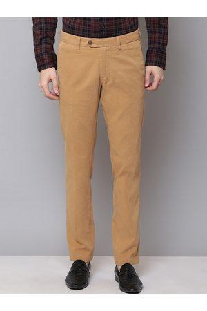 GANT Men Tan Brown Slim Fit Solid Formal Trousers