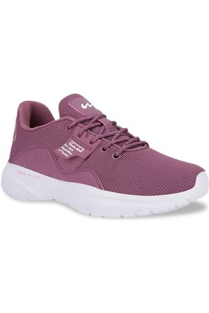 Campus Women Purple Mesh Running Shoes