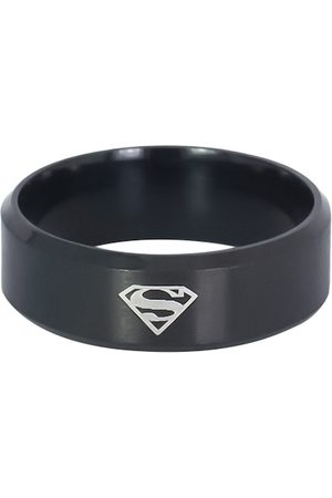 OOMPH Men Black Superman Broad Fashion Handcrafted Ring