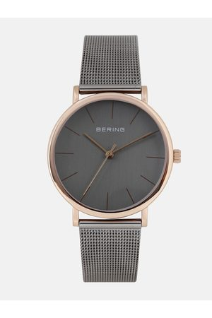 Bering Unisex Grey Classic Sapphire Crystal Analogue Watch 13436-369