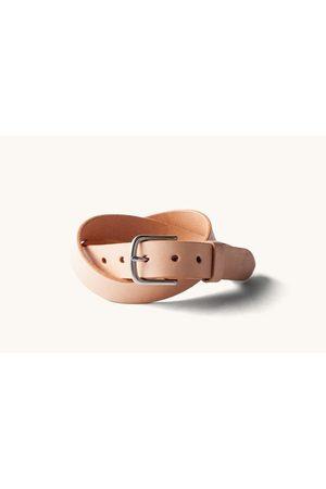 TANNER Classic Belt - Natural/Brushed Steel
