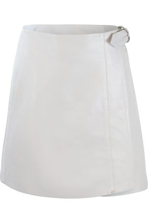 Sportmax Women Leather Skirts - Code Light Grey Leather Skirt