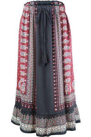 SET Women Printed Skirts - Set Maxi Skirt with Aztec Print