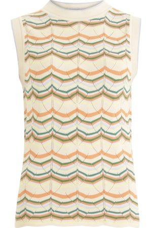 Coster Copenhagen Sleeveless Top - Creme Multi Stripe