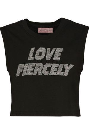 Chiara Ferragni Sleeveless Top Love Fiercely