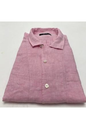 Mr Q Flamingo Shirt in Linen