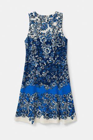 Desigual Women Printed Dresses - Atenas Short Dress with Oriental Print - Azul Dali