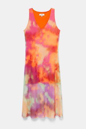 Desigual Women Dresses - Debora Tie Dye Double Layer Flared Dress - Tutti Frutti
