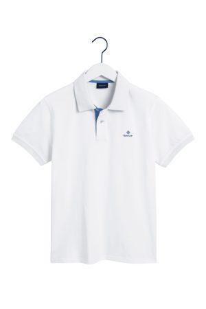 GANT Men Polo Shirts - Eggshell Contrast Collar Pique Rugger SS Polo Shirt