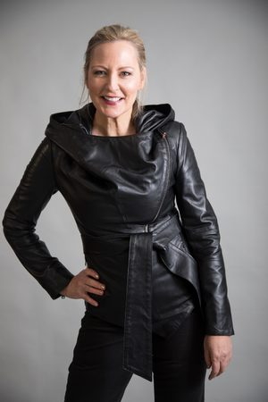 From My Mother's Garden Women Leather Jackets - HOODED LEATHER JACKET