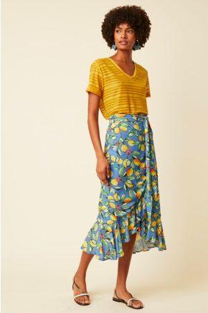 Great Plains Women Skirts - Lemon Wrap Frill Skirt