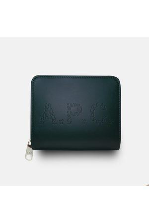 A.P.C. Men Wallets - . Emmanuel Letter Logo Wallet - Vert Fonce
