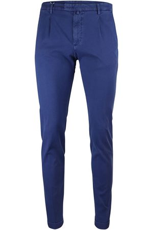 Briglia 1949 Men Slim Trousers - 1949 Slim Fit Cotton Trouser With Turn Up