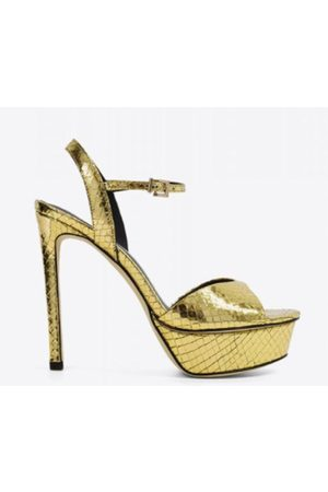 Lola Cruz Peony Leather Heels Sandals