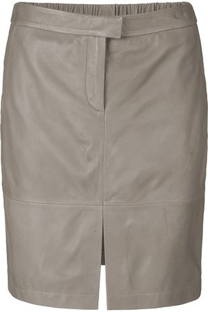 Second Female Roberta Leather Skirt - Concrete