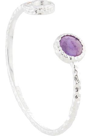 Les N r ides Women Bangles - Moon & Violet Amethyst Bangle Bracelet