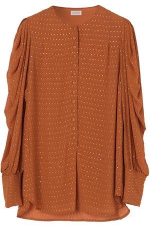 By Malene Birger Milaelle Dotted Shirt - Vintage Camel