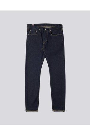 Edwin Women Slim Trousers - Slim Tapered Kaihara Blue Stretch Denim Rinsed