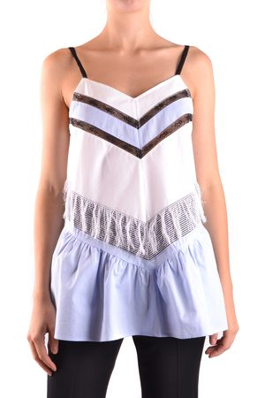 Twin-Set Sleeveless Tops in White