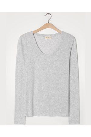 American Vintage Jacksonville Long Sleeve Grey T-Shirt