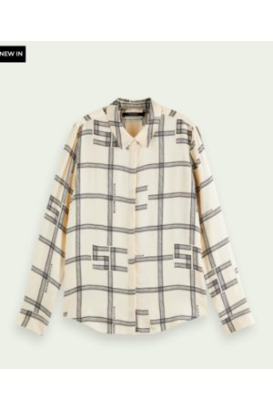 Scotch&Soda Printed long sleeve drapey shirt
