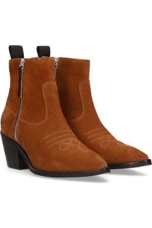 Maruti Alex Cognac Suede Ankle Boots
