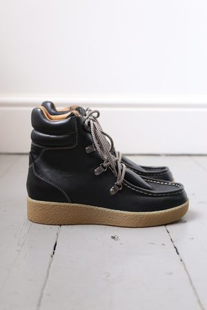 Isabel Marant Women Outdoor Shoes - Alpica Black Leather Hiking Boots