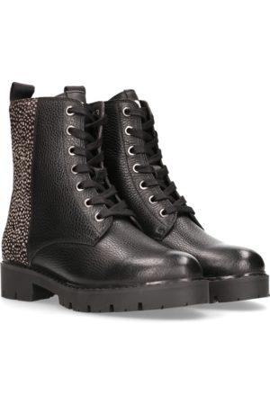 Maruti Gabri Leather/Hairon Boots - Black