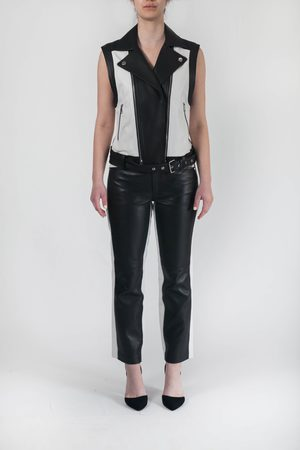 Karl Lagerfeld Women Body Warmers - Leather Gilet