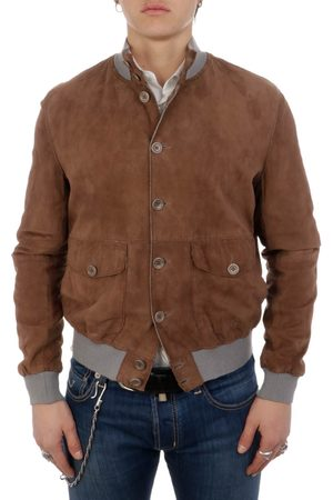 THE JACK LEATHERS MEN'S POLO07MIELE SUEDE OUTERWEAR JACKET