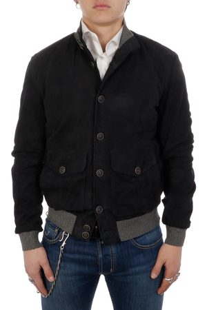 THE JACK LEATHERS Men Leather Jackets - MEN'S POLOGSUE100 SUEDE OUTERWEAR JACKET