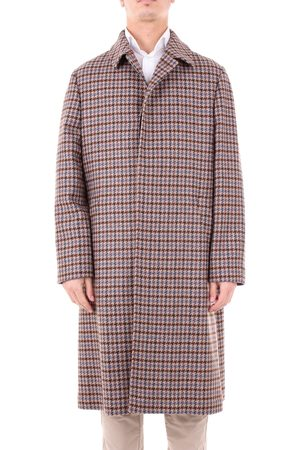LUIGI BORRELLI NAPOLI Men Coats - MEN'S 0WX057C6659BROWN WOOL COAT