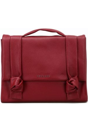 Orciani Women Briefcases - WOMEN'S B02021MICRONBORDEAUX BURGUNDY LEATHER BRIEFCASE
