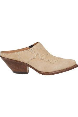 Buttero Women Platform Sandals - WOMEN'S B8321LIG36 BEIGE SUEDE SANDALS