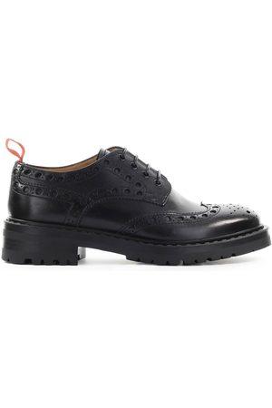 Barracuda Women Footwear - WOMEN'S BD1011BLACK LEATHER LACE-UP SHOES
