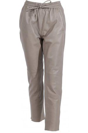 Oakwood Gift Grey Leather Trousers