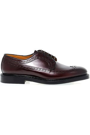 Fabi MEN'S 7747BROWN BURGUNDY LEATHER LACE-UP SHOES