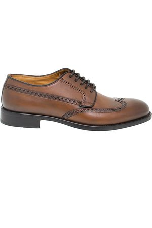 Fabi MEN'S FU9559BROWN LEATHER LACE-UP SHOES