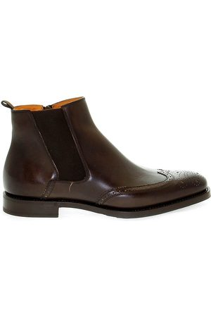 Fabi MEN'S FU7065BROWN LEATHER ANKLE BOOTS