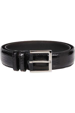 Orciani Men Belts - MEN'S U07753BLACK LEATHER BELT