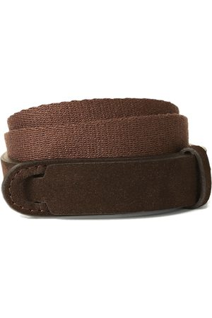 Orciani NOBUCKLE SUEDE BELT IN FABRIC AND CAMASCIO