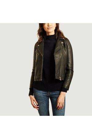 SAMS E SAMS E Women Leather Jackets - Tautou lambskin leather jacket Samsoe - Samsoe